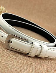 cheap -Women's Vintage Leather Alloy Waist Belt
