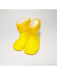 Недорогие -Девочки Обувь Кожа ПВХ  Весна / Осень Удобная обувь / Резиновые сапоги Ботинки для Желтый / Синий / Розовый