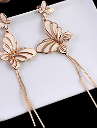 cheap -Women's Tassel / Long Drop Earrings / Hoop Earrings - Butterfly, Animal Tassel, Korean, Fashion Gold For Party / Going out