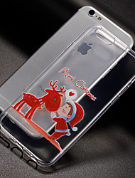 abordables -Funda Para Apple iPhone X iPhone 8 iPhone 8 Plus iPhone 7 Funda iPhone 5 iPhone 6 Diseños Cubierta Trasera Navidad Suave TPU para iPhone