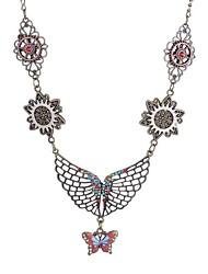 abordables -Femme Steampunk Papillon Pendentif de collier  -  Steampunk Européen Ailes / Plume Bronze antique Colliers Tendance Pour Quotidien
