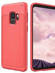 baratos -Capinha Para Samsung Galaxy S9 S9 Plus Antichoque Áspero Capa traseira Côr Sólida Macia TPU para S9 Plus S9