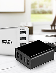 billiga -waza bärbar laddare usb laddare eu plug snabb laddning / multi portar 4 USB-portar 5 a för iphone 8 plus / iphone 8 / s8 plus