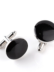 cheap -Circle Black White Cufflinks Alloy Formal Fashion Elegant Wedding Evening Party Men's Costume Jewelry