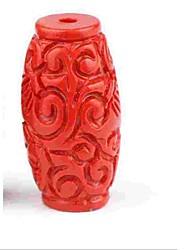 baratos -Jóias DIY 1 pçs Contas Resina Vermelho Cilindro Bead 0.5 cm faça você mesmo Colar Pulseiras