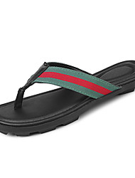 cheap -Men's Shoes PU Fabric Spring Summer Comfort Slippers & Flip-Flops for Casual Black/Red Black/Green