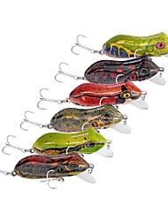 preiswerte -6 Stück Angelköder Frosch Harte Fischköder Kunststoff Outdoor Seefischerei Bootsangeln / Schleppangelfischen Spinnfischen
