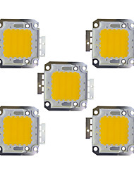 cheap -30W COB 2400LM 3000-3200K/6000-6200K Warm White/White LED Chip DC30-36V 5Pcs