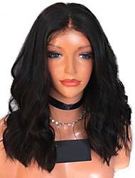 levne -Přírodní vlasy Brazilské vlasy Krajka paruka Vlnitá Přírodní vlny Dětské vlasy Krajka vpředu Nezpracované 100% Panna Přírodní vlasová