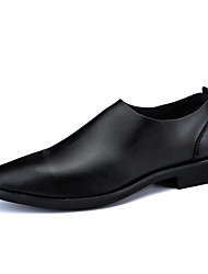 cheap -Men's Shoes Nappa Leather Spring / Fall Comfort / Formal Shoes Loafers & Slip-Ons Black / Party & Evening