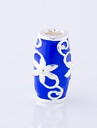cheap -DIY Jewelry 1 pcs Beads Enamel Alloy Dark Blue Fuchsia Oval Bead 0.3 cm DIY Necklace Bracelet