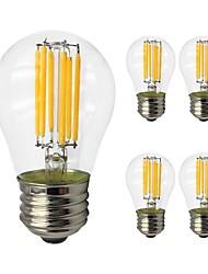Недорогие -5 шт. 6W 560lm E27 LED лампы накаливания G45 6 Светодиодные бусины COB Эдисонская лампа Светодиодная лампа Тёплый белый Холодный белый