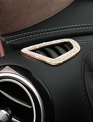 cheap -Automotive Car Air Conditioner Vent Covers DIY Car Interiors For Mercedes-Benz 2017 E300L E200L E Class