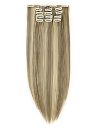 cheap -Neitsi 22'' 7Pcs Straight Clip in on Synthetic Hair Extensions Synthetic Heat Resistant 16Clips 140g Full Head