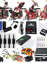 cheap -Complete Tattoo Kit 4 Alloy  Machine Liner&Shader With Needles Tips Grips