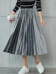 abordables -Mujer Casual Columpio Faldas Un Color