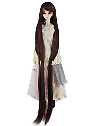 cheap -Synthetic Wig kinky Straight Brown Women's Capless Doll Wig Very Long Synthetic Hair