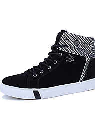 cheap -Men's Shoes PU Winter Fall Comfort Boots Mid-Calf Boots for Casual Black Gray Black And White