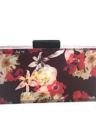 Недорогие -Жен. Мешки стекло Металл Вечерняя сумочка Кристаллы для Для праздника / вечеринки Весна Лето Красный