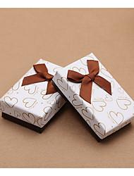 baratos -Cubóide Papel de Cartão Suportes para Lembrancinhas com Laço Caixas de Ofertas / Frasco de Doce Boticário / Caixas de Presente - 10pçs