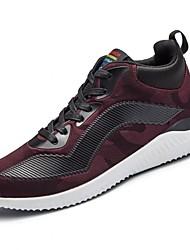 baratos -Homens sapatos Couro Ecológico Primavera Outono Conforto Tênis Futebol para Atlético Preto Cinzento Vermelho