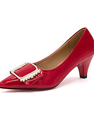 economico -Da donna Ballerine Suole leggere Comoda PU (Poliuretano) Estate Formale Suole leggere Comoda Piatto Nero Rosso Rosa Piatto