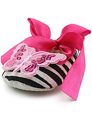 cheap -Girls' Shoes Fabric Spring / Fall Comfort / First Walkers / Crib Shoes Flats Bowknot / Appliques / Ribbon Tie for Pink / Wedding