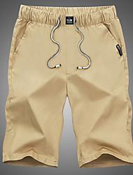 abordables -Homme Sports & Activités d'Extérieur Coton Chino Pantalon Couleur Pleine