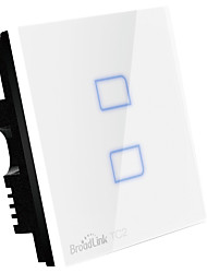 cheap -Broadlink TC2-2gang UK Plug Touch Switch Smart Home Automation Wireless Wifi Control Light Wall Switch