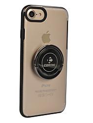 Недорогие -Кейс для Назначение Apple iPhone 8 iPhone 8 Plus Кольца-держатели Сплошной цвет Твердый для