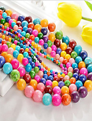 cheap -DIY Jewelry 48 pcs Beads Agate Rainbow Round Bead 0.8 DIY Bracelet Necklace