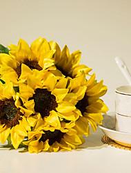 Недорогие -Искусственные Цветы 6 Филиал Пастораль Стиль Подсолнухи Букеты на стол
