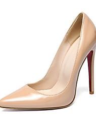 baratos -Mulheres Sapatos Couro Ecológico Primavera / Verão Conforto / Inovador Saltos Salto Agulha Dedo Apontado Vermelho / Amêndoa / Vinho
