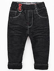 preiswerte -Jungen Jeans Solide Baumwolle Bambusfaser Elasthan Frühling Aktiv Blau Schwarz