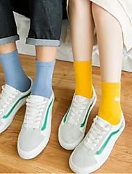 6 parova / kutije Muškarci Čarape Standard Jednobojni Ugrijati Pamuk EU40-EU46