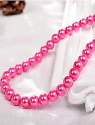 cheap -DIY Jewelry 90 pcs Beads Imitation Pearl Fuchsia Red Green Light Pink Royal Blue Round Bead 0.4 cm DIY Necklace Bracelet
