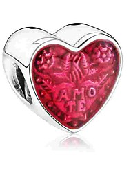 Недорогие -Ювелирные изделия DIY 1 Бусины Серебряный Сердце Шарик 0.2 DIY Браслеты Ожерелье