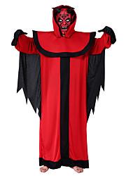 baratos -Diabo Fantasias de Cosplay Homens Dia Das Bruxas Festival / Celebração Trajes da Noite das Bruxas Vermelho Halloween Dia Das Bruxas