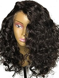 cheap -Human Hair Lace Front Wig Brazilian Hair Curly Jerry Curl With Baby Hair 150% Density Unprocessed 100% Virgin Natural Hairline Short
