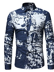 cheap -Men's Vintage Plus Size Cotton Shirt