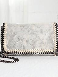 cheap -Women Bags PU Shoulder Bag Buttons Zipper for Casual All Season Almond Gray Silver Black Blue