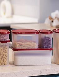 Недорогие -пластик Прост в применении Хранение продуктов питания 6шт Кухонная организация