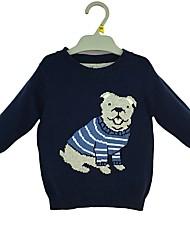 preiswerte -Jungen Pullover & Cardigan Cartoon Design Baumwolle Winter Frühling Langarm Einfach Königsblau