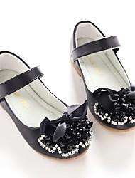 baratos -Para Meninas Sapatos Courino Primavera Verão Sapatos para Daminhas de Honra Bailarina Rasos Laço Gliter com Brilho Velcro para Casamento