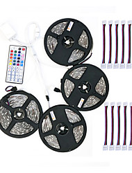 cheap -ZDM® 600 LEDs 4x 5M LED Strip Light 1 44Keys Remote Controller 1x 1 To 4 Cable Connector 10 Connectors RGB Cuttable Self-adhesive DC 12V