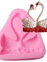 Недорогие -Инструменты для выпечки силикагель Антипригарное покрытие / Инструмент выпечки / 3D Печенье / Шоколад / Для приготовления пищи Посуда Формы для пирожных 1шт