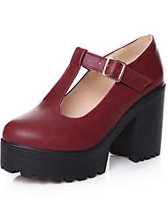 Недорогие -Жен. Обувь Полиуретан Весна Лето Удобная обувь Оригинальная обувь Армейские ботинки Обувь на каблуках На толстом каблуке Круглый носок