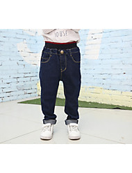 cheap -Boys' Solid Pants, Cotton Bamboo Fiber Spandex Spring Cute Active Blue