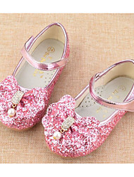 cheap -Girls' Shoes Leatherette Spring Fall Comfort Flower Girl Shoes Flats for Casual Light Pink Pink Blue White