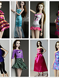 cheap -Princess Costumes For Barbie Doll Dresses For Girl's Doll Toy